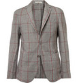 Boglioli - Unstructured Prince of Wales Check Linen Blazer