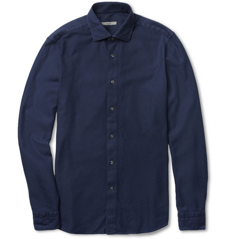 Boglioli Textured-Cotton Shirt