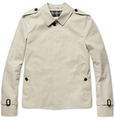 Burberry London Short Slim-Fit Cotton-Twill Trench Coat