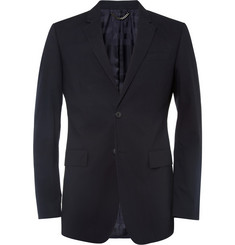 Burberry London Navy Slim-Fit Cotton Suit Jacket