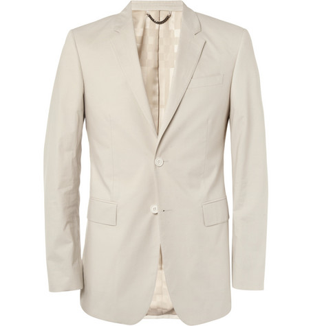 Burberry London Stone Slim-Fit Cotton Suit Jacket