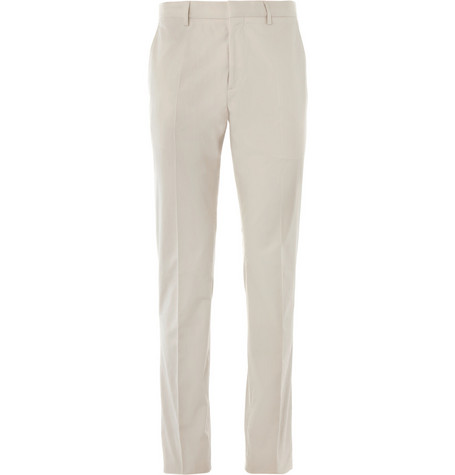 Burberry London Stone Slim-Fit Cotton Suit Trousers