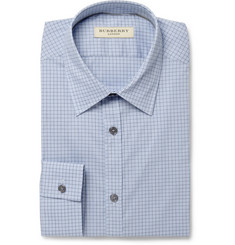 Burberry London Blue Check Cotton-Blend Shirt