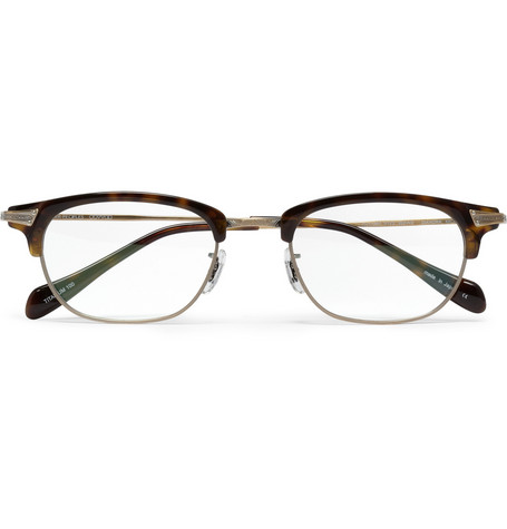 Oliver Peoples Diandra Rectangular-Frame Optical Glasses