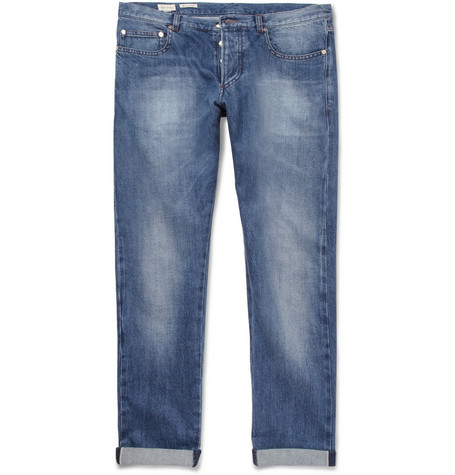 Paul Smith Slim-Fit Washed Selvedge Denim Jeans