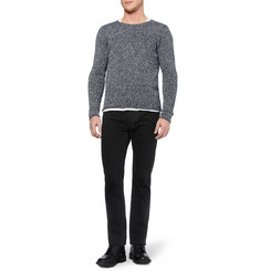 Paul Smith Flecked Textured Cotton Sweater