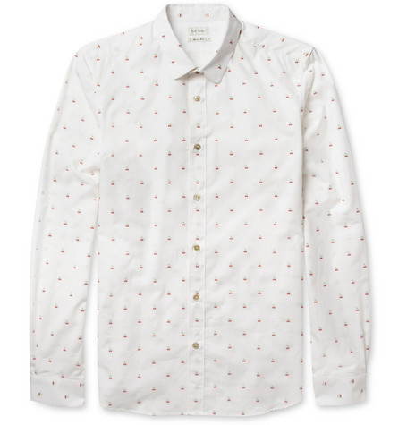 Paul Smith Cherry-Patterned Cotton Shirt