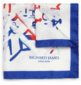 Richard James - Sportif Printed Silk Pocket Square