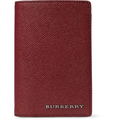 Burberry Shoes & Accessories Textured-Leather Passport Cover