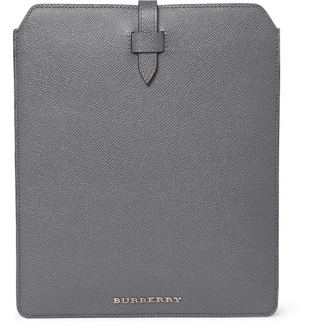Burberry Shoes & Accessories Textured-Leather iPad Sleeve