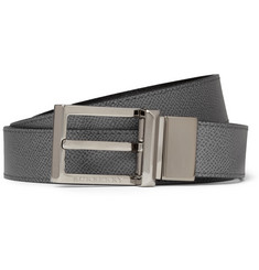Burberry Shoes & Accessories Reversible Textured-Leather Belt