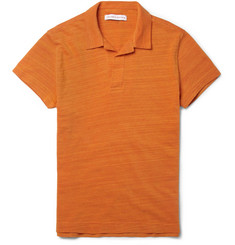 Orlebar Brown Felix Marl Cotton-Piqué Polo Shirt