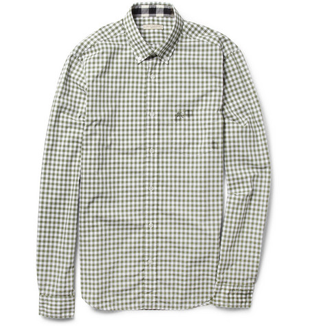 Burberry Brit Gingham Check Slim-Fit Cotton Shirt