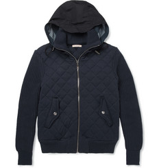 Burberry Brit Quilted Cotton Bomber Jacket