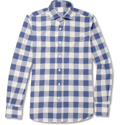 Slowear Glanshirt Slim-Fit Check Cotton Shirt