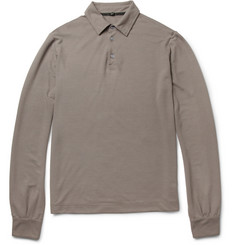Slowear Zanone Long-Sleeved Cotton Polo Shirt