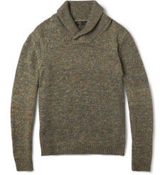 Rag & bone Holst Flecked Shawl-Collar Sweater