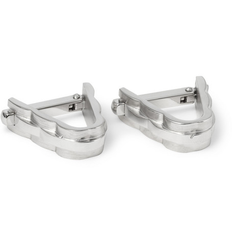 Lanvin Rhodium-Plated Hinged Cufflinks