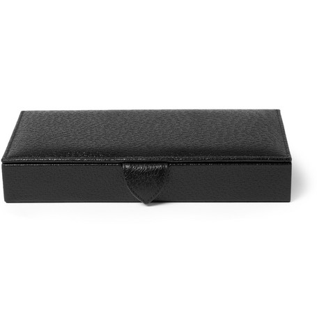 Smythson Leather Cufflink Box