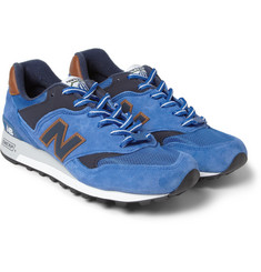 New Balance 577 Country Fair Nubuck and Leather Sneakers