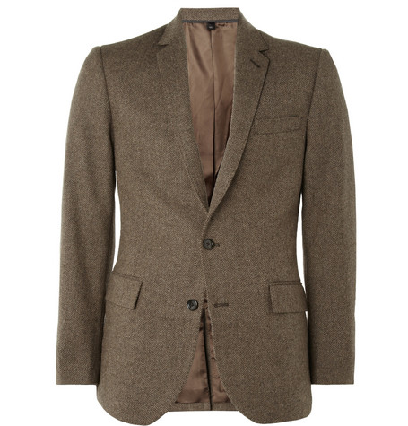 J.Crew Ludlow Slim-Fit Herringbone Wool Blazer
