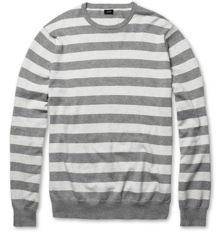 J.Crew Striped Cotton and Cashmere-Blend Sweater