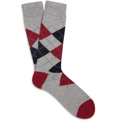 J.Crew Cotton-Blend Argyle Socks