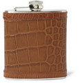 J.Crew Crocodile-Embossed Stainless Steel Hip Flask