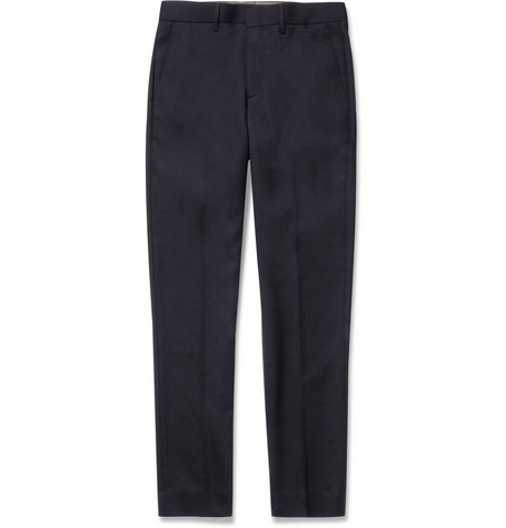 J.Crew Bowery Straight-Leg Wool-Twill Trousers