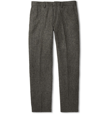 J.Crew Bowery Straight-Leg Wool-Tweed Trousers