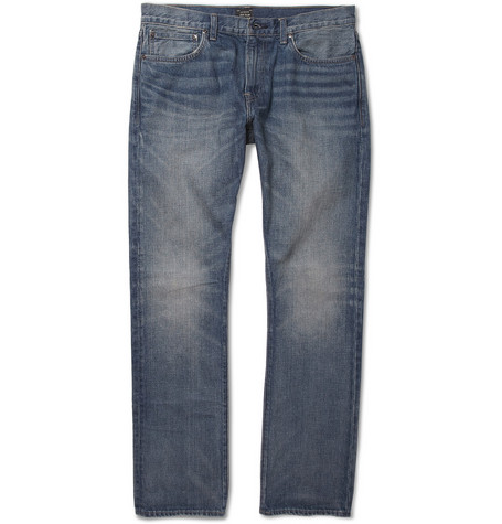 J.Crew 484 Straight-Leg Washed-Denim Jeans