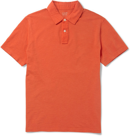 J.Crew Slub Cotton-Piqué Polo Shirt