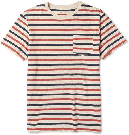 J.Crew Porter Striped Cotton-Jersey T-Shirt