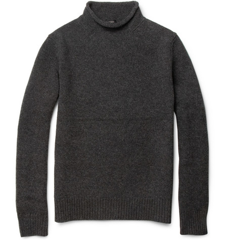 J.Crew Funnel-Neck Lambswool Sweater