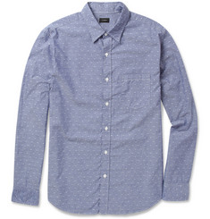 J.Crew Dotted Cotton-Chambray Shirt