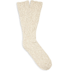 J.Crew Marl Cotton-Blend Socks