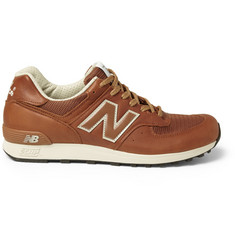New Balance 576 Leather and Mesh Sneakers
