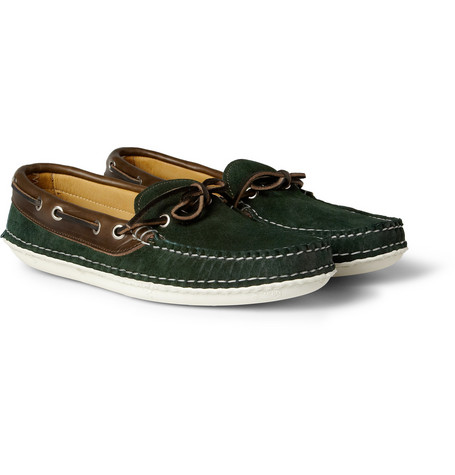 Quoddy Suede and Leather Boat Shoes