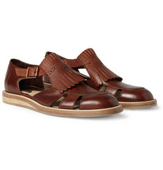 Paul Smith Shoes & Accessories Fringed Leather Sandals