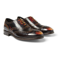 Paul Smith Shoes & Accessories Chuck Burnished-Leather Oxford Shoes