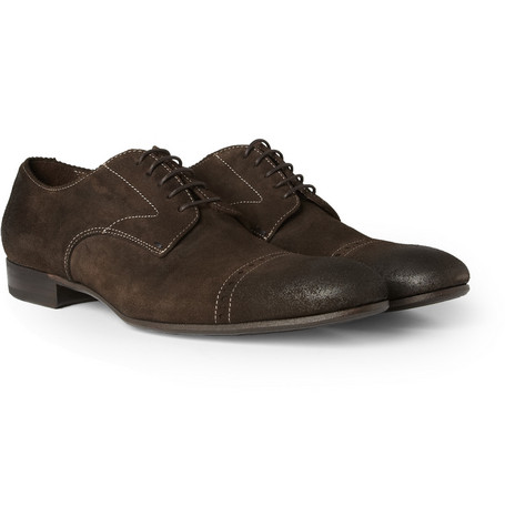 Paul Smith Shoes & Accessories Harrison Burnished-Suede Derby Shoes
