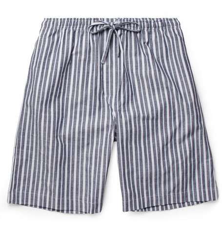 Naturally from Derek Rose Striped Cotton Lounge Shorts
