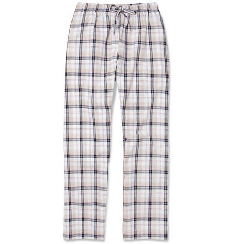 Naturally from Derek Rose Portofino Check Cotton Pyjama Trousers
