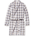 Naturally from Derek Rose - Portofino Plaid Cotton Dressing Gown