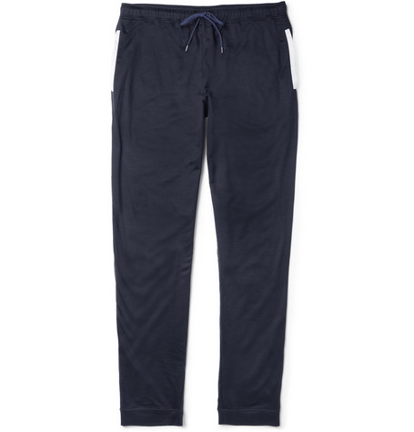 Naturally from Derek Rose Toby Cotton-Blend Lounge Trousers
