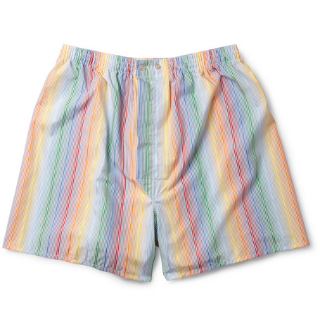 Derek Rose Rimini Striped Cotton Boxer Shorts
