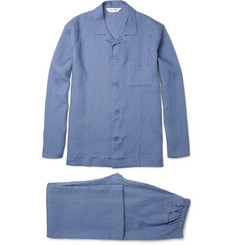 Derek Rose Salcombe Linen Pyjama Set