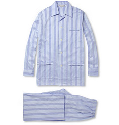 Derek Rose Mayfair Striped Cotton Pyjamas