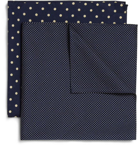 Derek Rose Two-Pack Printed Cotton Handkerchiefs
