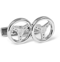 Alfred Dunhill Steering Wheel Sterling Silver Cufflinks